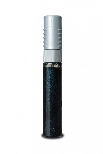2 in 1 Nail Art schwarz mit blauglitter